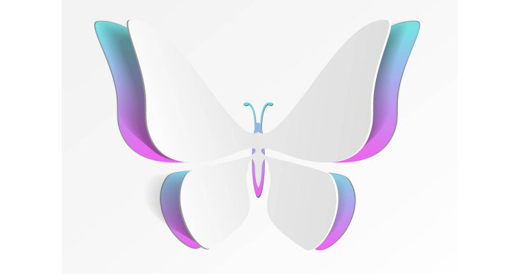 about conscious living - abstract butterfly
