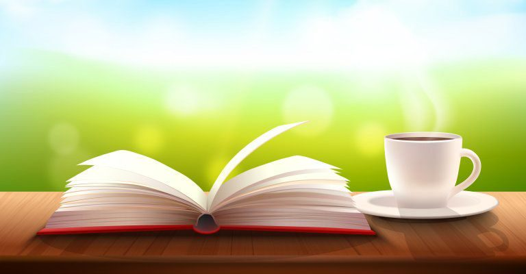 about conscious living - coffee and a good book