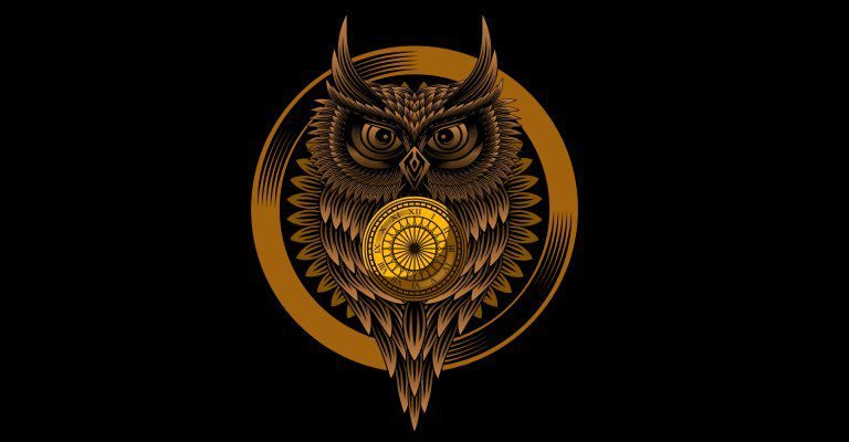about conscious living - owl clock