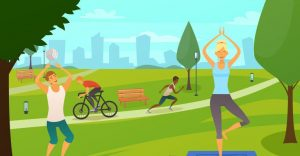 about conscious living - yoga in the park